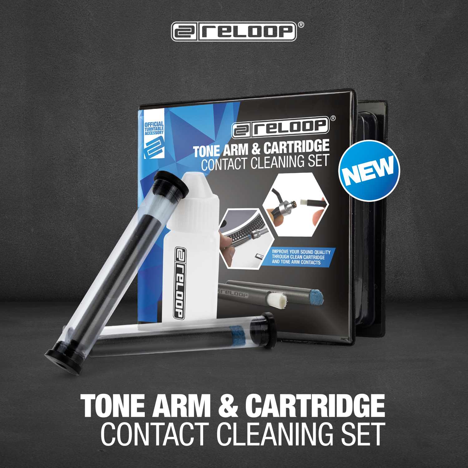 NEW: RELOOP TONE ARM & CARTRIDGE CONTACT CLEANING SET